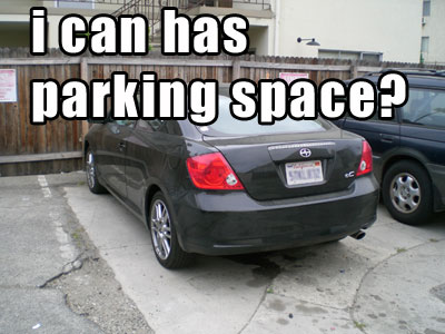 i can has parking spot?