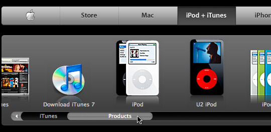 iTunes store on the web