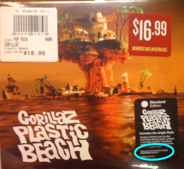 Circled: Sure you don't want the Gorillaz <strong>Experience</strong> instead?